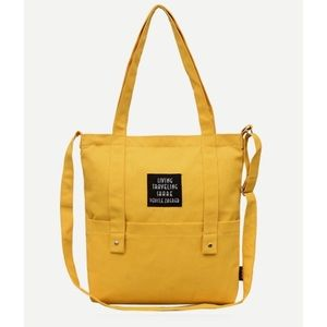 Mustard Yellow Canvas Tote Bag New